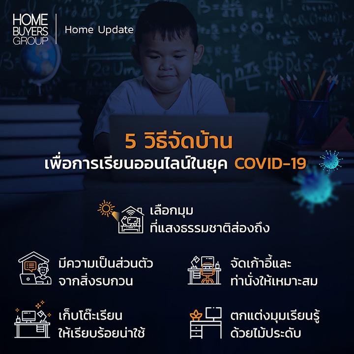 5 วิธีจัดบ้านเพื่อการเรียนออนไลน์ในยุค COVID-19